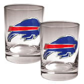 Buffalo Bills 2pc Rocks Glass Set