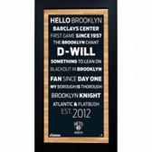 Brooklyn Nets Subway Sign 6x12 Framed Photo