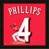 Brandon Phillips Cincinnati Reds 20x20 Framed Uniframe Jersey Photo 1