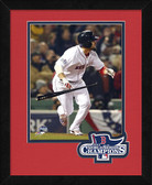 Boston Red Sox Shane Victorino Game 6 2013 World Series Champions Logo Mat Framed