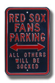 Boston Red Sox Others will be Socked Parking Sign