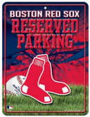 Boston Red Sox Metal Parking Sign