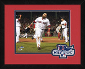 Boston Red Sox Jonny Gomes 2013 World Series Champions Logo Mat Framed