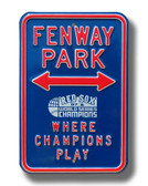 Boston Red Sox Fenway Park World Series Parking Sign