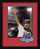 Boston Red Sox David Ortiz MVP 2013 World Series Champions Logo Mat Framed