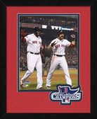 Boston Red Sox David Ortiz & Jacoby Ellsbury 2013 World Series Champions Logo Mat Framed