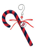 Boston Red Sox Clay Dough Candy Cane Ornament