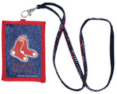 Boston Red Sox Beaded Lanyard Wallet