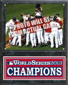 "Boston Red Sox 2013 World Series Team Sit Down Plaque 15"" x 12"""