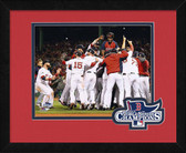 Boston Red Sox 2013 World Series Champions Team Celebration Logo Mat Framed #2