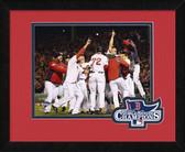 Boston Red Sox 2013 World Series Champions Team Celebration Logo Mat Framed #1