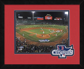 Boston Red Sox 2013 World Series Champions Field Celebration Logo Mat Framed