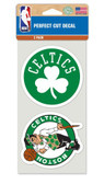 Boston Celtics Set of 2 Die Cut Decals