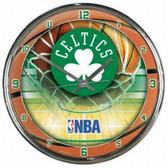 Boston Celtics Round Chrome Wall Clock
