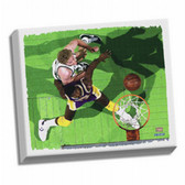 Boston Celtics Larry Bird/ Magic Johnson Stretched 32X40 Canvas