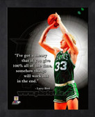 Boston Celtics Larry Bird 11x14 Framed Pro Quote Photo