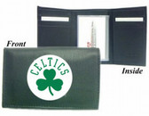 Boston Celtics Embroidered Leather Tri-Fold Wallet