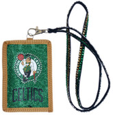 Boston Celtics Beaded Lanyard Wallet