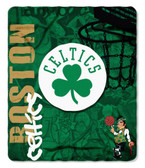 Boston Celtics 50x60 Fleece Blanket - Hard Knock Design