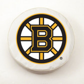 Boston Bruins White Tire Cover, Large