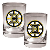 Boston Bruins 2pc Rocks Glass Set - Primary Logo