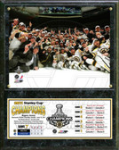 Boston Bruins 2011 NHL Stanley Cup Champions Team Plaque with Scores