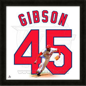 Bob Gibson St. Louis Cardinals 20x20 Framed Uniframe Jersey Photo