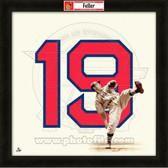 Bob Feller Cleveland Indians 20x20 Framed Uniframe Jersey Photo