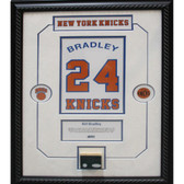 Bill Bradley Retired Number Knicks ChampCourt Piece 14x20 Framed Collage w/plate