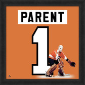 Bernie Parent Philadelphia Flyers 20x20 Framed Uniframe Jersey Photo