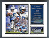 Barry Sanders 2004 Hall Of Fame Induction Milestones & Memories Framed Photo