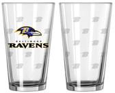 Baltimore Ravens Satin Etch Pint Glass Set