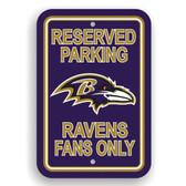 Baltimore Ravens Plastic Parking Sign - Reserved Parking