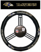Baltimore Ravens Leather Steering Wheel Cover