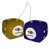 Baltimore Ravens Fuzzy Dice
