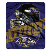 "Baltimore Ravens 50""x60"" Royal Plush Raschel Throw Blanket - Grandstand Design"