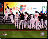Baltimore Orioles Celebrate Winning the 2014 American League East Division 16x20 Stretched Canvas