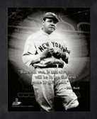 Babe Ruth New York Yankees 8x10 Framed ProQuote Photo #3