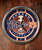 Auburn Tigers Chrome Clock
