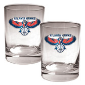 Atlanta Hawks Rocks Glass Set