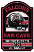 """Atlanta Falcons Wood Sign - 11""""x17"""" Fan Cave Design"""