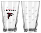 Atlanta Falcons Satin Etch Pint Glass Set
