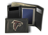 Atlanta Falcons Embroidered Leather Tri-Fold Wallet