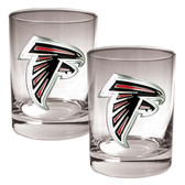 Atlanta Falcons 2pc Rocks Glass Set