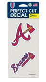 Atlanta Braves Set of 2 Die Cut Decals