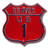 Atlanta Braves Route 1 Sign