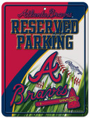 Atlanta Braves Metal Parking Sign