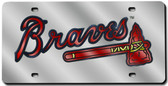 Atlanta Braves Laser Cut Silver License Plate