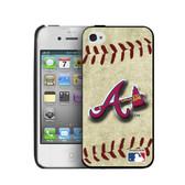 Atlanta Braves iPhone 4/4s Hard Cover Case Vintage Edition