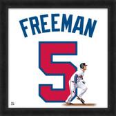 Atlanta Braves Freddie Freeman 20X20 Framed Uniframe Jersey Photo